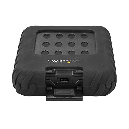 """StarTech.com USB 3.1 External Hard Drive Enclosure - Rugged - for 2.5"""" SATA Hard Drive Enclosure - HDD/SSD Enclosure - USB 3.1 Enclosure"""
