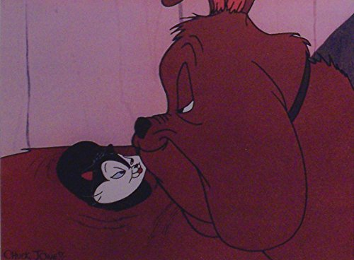 "Chuck Jones Classic Feed the Kitty artwork of Marc Anthony and Kitty - Ltd Print Matted to 8"" x 10"" from Looney Tunes"