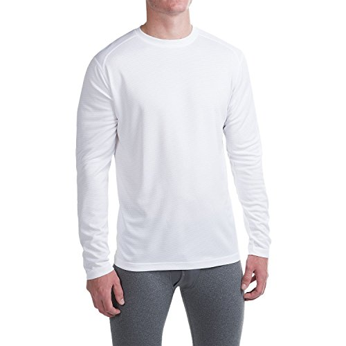 (Terramar Men's Helix Mountain Long Sleeve Crew Shirt (Medium,)