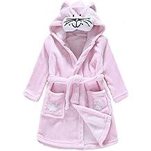 Kids Lightweight Cotton fleece Animal Sleeping Bathrobe with Hood