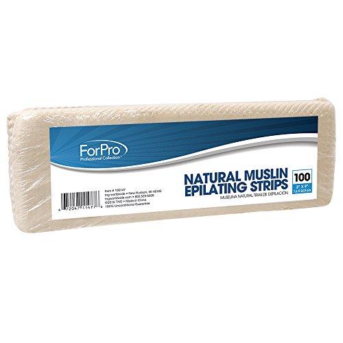 ForPro Natural Muslin Strip 3x9 100ct (Pro Muslin)
