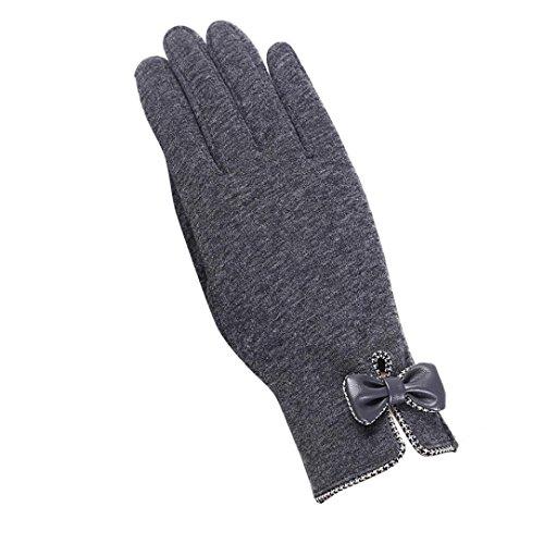 Guantes calientes para Mujeres,Ouneed ® Moda para mujer al aire libre conducción deporte caliente guantes de invierno Gris