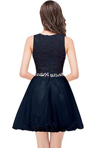 46 Linie Ballkleid 32 mit MisShow Bestickte KnieKnielang Schmucksteinen Blau Navy Abendkleid Prinzessin Gr Spitzenkleid A Damen xStqqAOwY