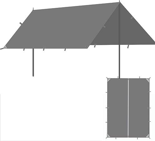 HWZP Dosel toldo Plegable telescópico Exterior Lluvia Protector Solar Carpa pérgola Protector Solar Plata UV Dosel de Camping: Amazon.es: Hogar