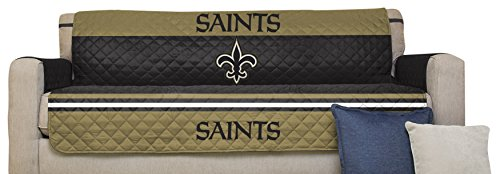 Pegasus Sports NFL New Orleans Saints Furniture Protector With Elastic  Straps, Sofa, Black