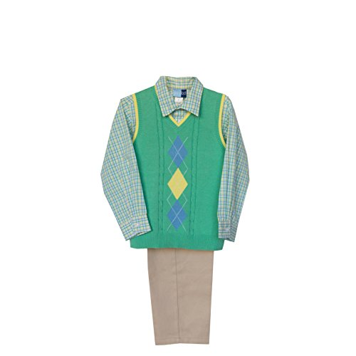 Good Lad Green Argyle Sweater Vest Set (3T)