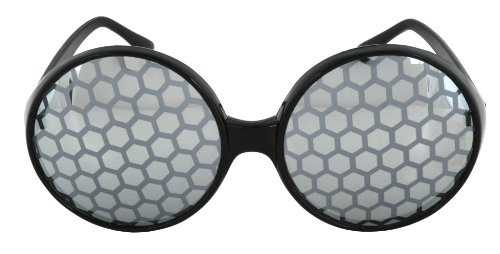 elope Black Bug Eye Glasses -