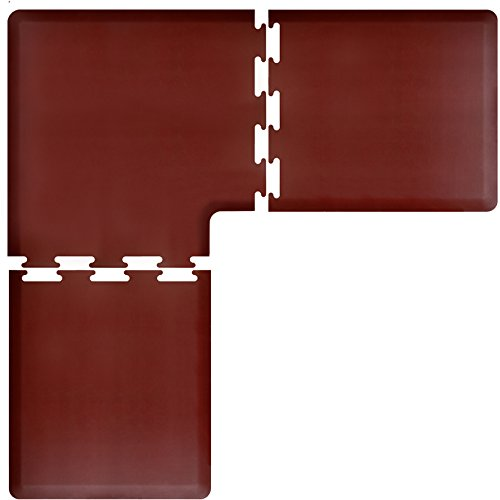 WellnessMats PuzzlePiece Collection L Series Burgundy Anti-Fatigue Mat, 6.5 x 6.5 Foot by WellnessMats