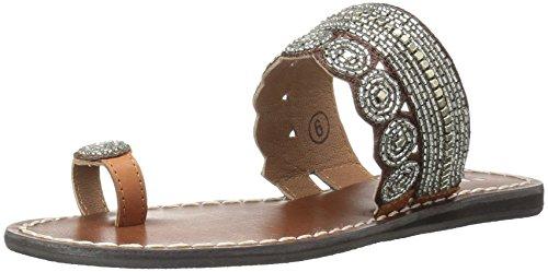 MIA Women's Athens Toe Ring Sandal, Clear/Multi, 8 M (Toe Ring Flat Sandals)