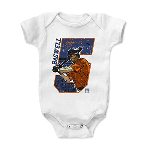 500 LEVEL Jeff Bagwell Baby Clothes, Onesie, Creeper, Bodysuit 18-24 Months White - Vintage Houston Astros Baby Clothes - Jeff Bagwell Offset B ()