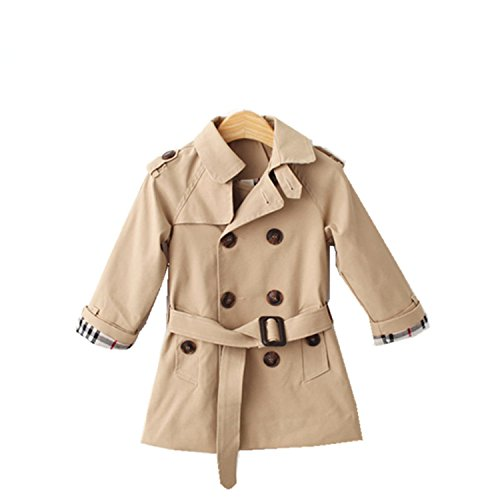 Spring Breakers Costume (Almarms Boys Trench Coat Girls Windbreaker Spring Jackets Toddler Cotton Outerwear Baby Girls Trench Coat Children Clothes Costume Ivory 6T)