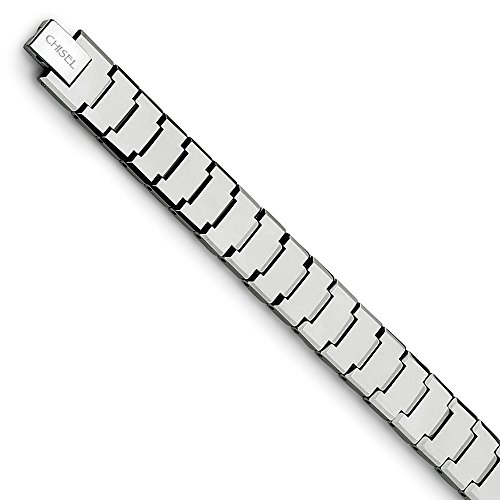 Goldia Men's Tungsten Polished 8.5 inch Bracelet from Goldia