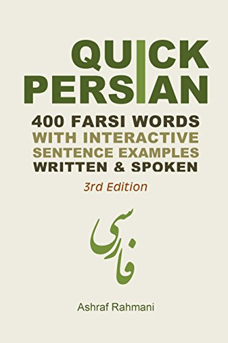 Quick Persian 400 Common Farsi Words With Interactive Sentence