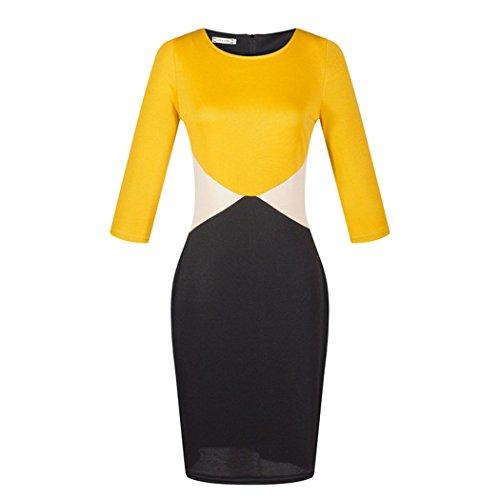 VENI MASEE Damen Kleid Gelb nnLYj5SNh pickpocket
