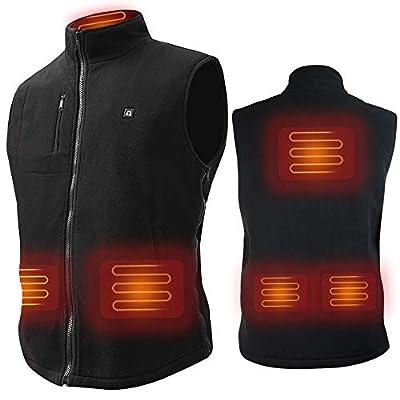 ARRIS Heated Vest Size Adjustable 7.4V Battery Electric Warm Vest for Hiking Camping