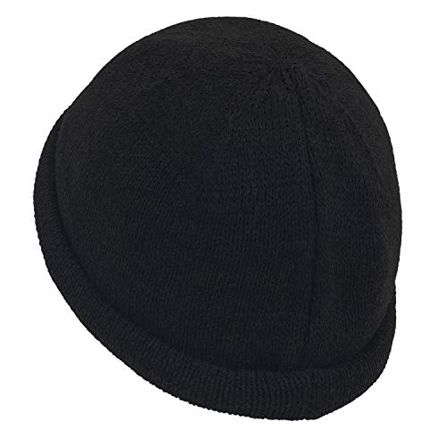 Beanie Knitted Cap Solid Hat ililily Short Color Casual Soft Vintage Black wXBO7qnC