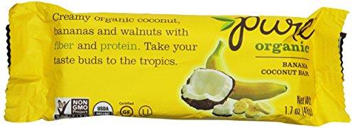 Pure Organic Bar, Banana Coconut, 1.7 Ounce (Pack of 12)