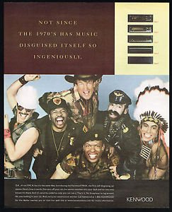 (MAGAZINE ADVERTISEMENT For 1997 Kenwood Stereos With The Village People)