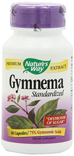 Natures Way Gymnema Standardized 60 Vegetarian capsule, 60 (Gymnema Standardized 60 Capsules)