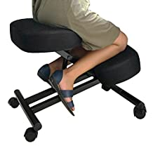 Ergonomic Kneeling Chair (Double Thick Mesh Fabric) for Home, Office, and Meditation