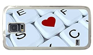 Hipster Samsung S5 sparkly case Love Button PC Transparent for Samsung S5