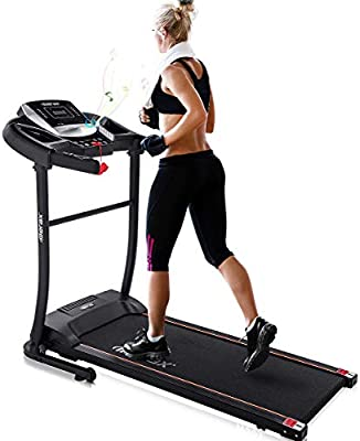 Electric Folding Treadmill Running Machine for Home Motorized with Wheel Easy