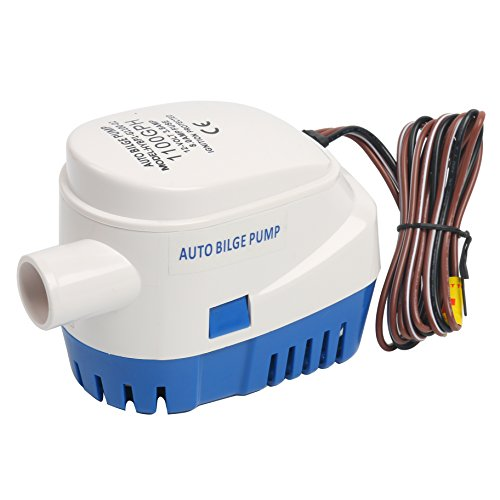 Amarine-made 12V Automatic Submersible 1100GPH Boat Bilge Water Pump Auto with Float Switch-New (Current 3.8A)