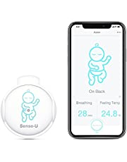 Sense-U Baby Monitor with Breathing Movement Temperature Smart Sensors: Tracks Baby's Breathing, Rollover Movement, Ambient Temperature with Audio Alerts on Smartphone