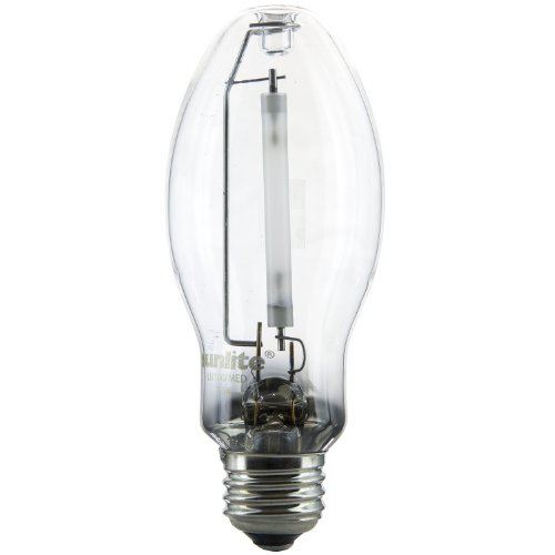 Sunlite 03615-SU LU100/MED 100 Watt HPS ED17  High Pressure Sodium Light Bulb, Medium Base, Clear 100w Ed17 Medium Base