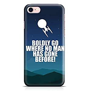 Loud Universe Star Trek Quote iPhone 8 Case Boldly Go Quote iPhone 8 Cover with 3d Wrap around Edges