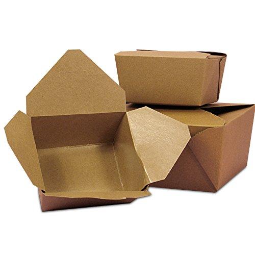 40ea - #4 8-3/4x6-7/16x3-1/2 Kraft Econo-Pak Takeout Box | Width: 6-7/16