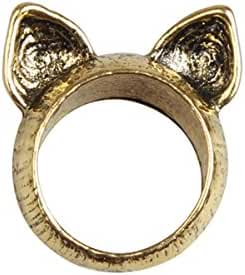 Mother's Day Unique Cat Ears Finger Knuckle Alloy Ring Size: 7