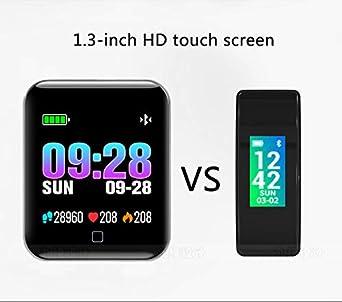 Reloj Inteligente M19 para Android 4.3 y Superior/iOS 7 y Superior Monitor de Pulso Cardiaco/Medición de la Presión Sanguínea/Calorías Quemadas/Pantalla ...