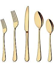 Flatware Set, 20-Piece Elegant Silverware Cutlery Set, Stainless Steel Utensils Service for 4