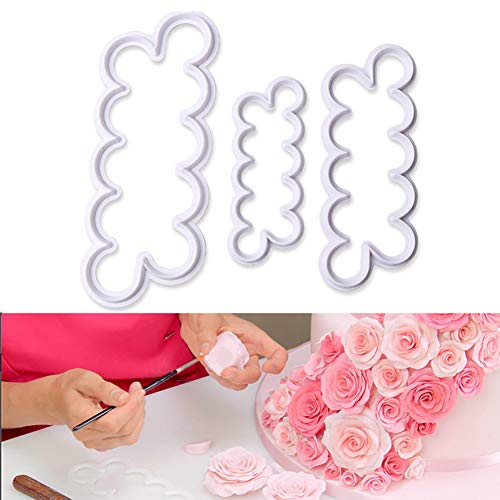 (Palker Sky The Easiest Rose Ever Small Cutter Set of 3,Cake Decorating Gumpaste)