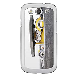 Loud Universe Samsung Galaxy S3 Files Minion 5 Printed Transparent Edge Case - Multi Color