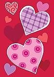 Toland Home Garden Heart Trio 12.5 x 18 Inch Decorative Valentine Love Design Garden Flag