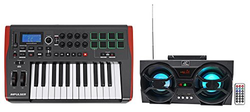 Novation IMPULSE 25 Ableton Live 25-Key MIDI USB Keyboard Controller + Speaker