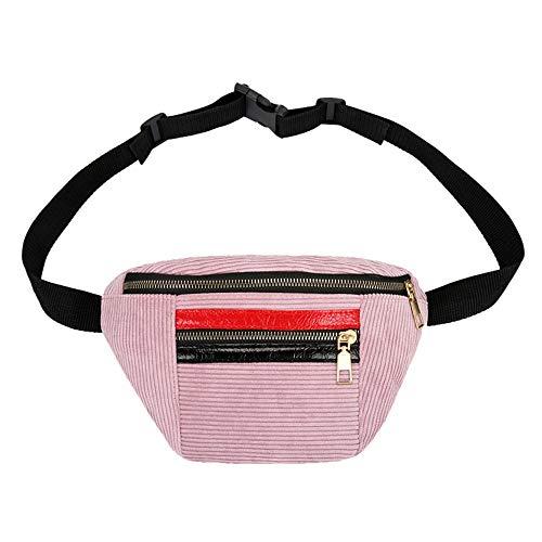Hot Selling,bag!messenger bag,LandFox Fashion Plush Messenger Bag ,Women's Girl Pure Color Zipper Chest Bag Waist Bag
