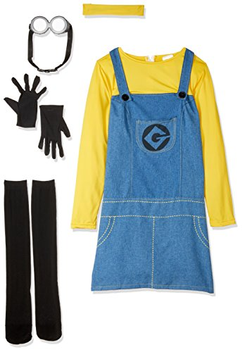 Rubie's Women's Despicable Me 2 Minion Costume with Accessories, Multicolor, Medium (Family Costumes Halloween)