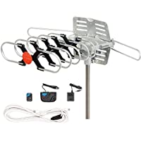 PremWing Outdoor HDTV Antenna 150 Miles Range for Digital TV, VHF/UHF/FM Radio with Remote Control