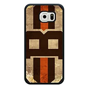 Samsung Galaxy S6 Case, Customized NFL Cleveland Browns Logo Black Soft Rubber TPU Samsung Galaxy S6 Case, Cleveland Browns Logo Galaxy S6 Case(Not Fit for Galaxy S6 Edge) by mcsharks