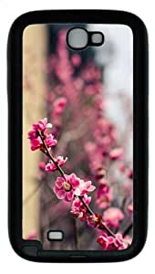 case brand new cases blossoms spring TPU Black case/cover for samsung galaxy N7100/2