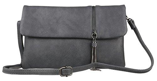 Clutch HandBags Zipper Flap HandBags Flap Girly Charcoal Girly Bag Clutch Zipper qTfwxBq4