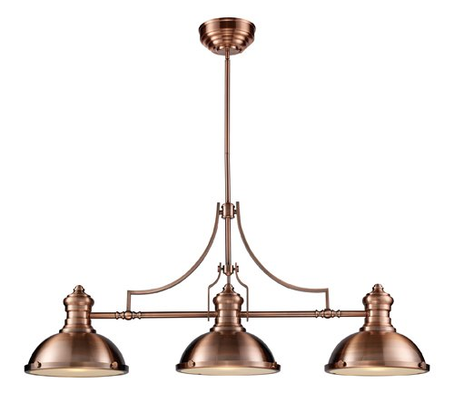 - Elk 66145-3 Chadwick 3-Light Billiard Light, 21-Inch, Antique Copper