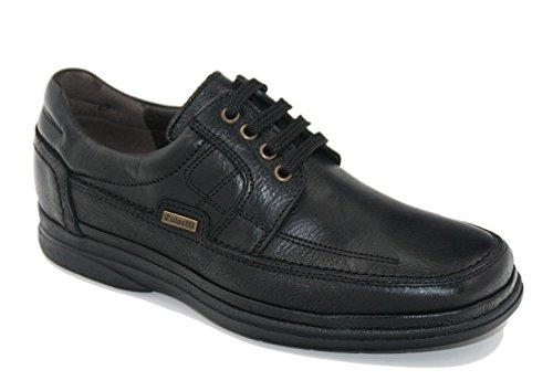 Cordones 40 Negro 15918 Piel Luisetti Zapato YO5wnU4qX