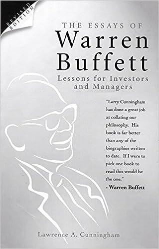 The essays of warren buffett lawrence a cunningham 9780470820780