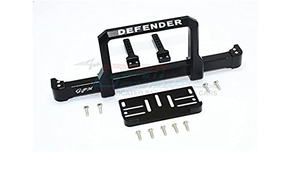 Traxxas TRX-4 Trail Defender Crawler Aluminum Front Bumper With Winch Plate On-Road Street Fighter 1 Set Black
