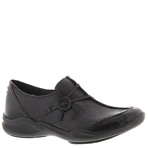 Clarks Women's Wave.Run Black Leather Loafer 6.5 D - Wide by CLARKS