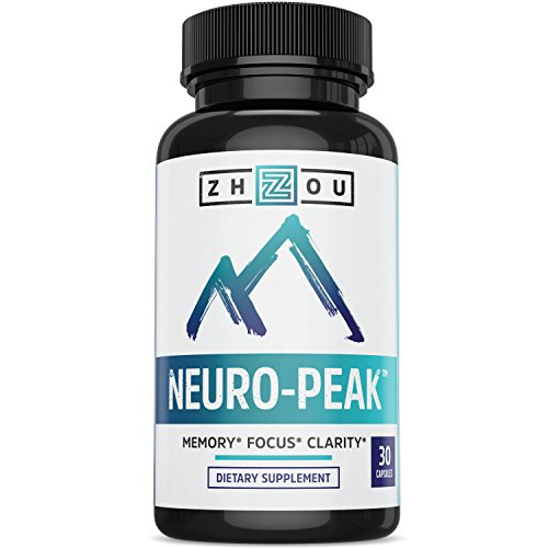 Natural Brain Function Support for Memory, Focus & Clarity - Mental Performance Nootropic - Physician-Formulated To Provide Optimum Blend Of DMAE, Rhodiola Rosea Extract, Bacopa Monnieri & More 637769766061